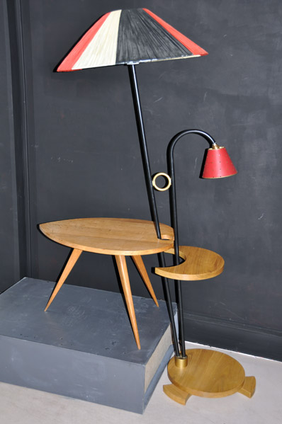 table basse tripode en bois massif lampadaire avec. Black Bedroom Furniture Sets. Home Design Ideas